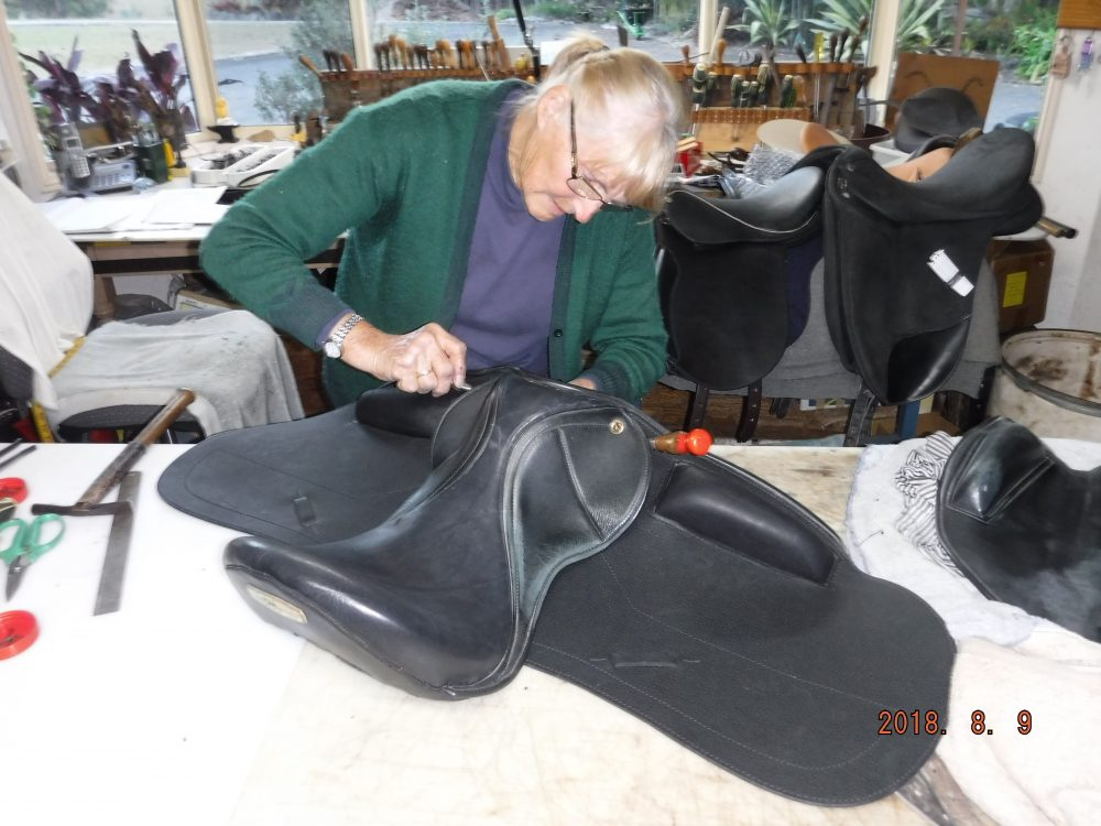 Repairing Dressage Saddle