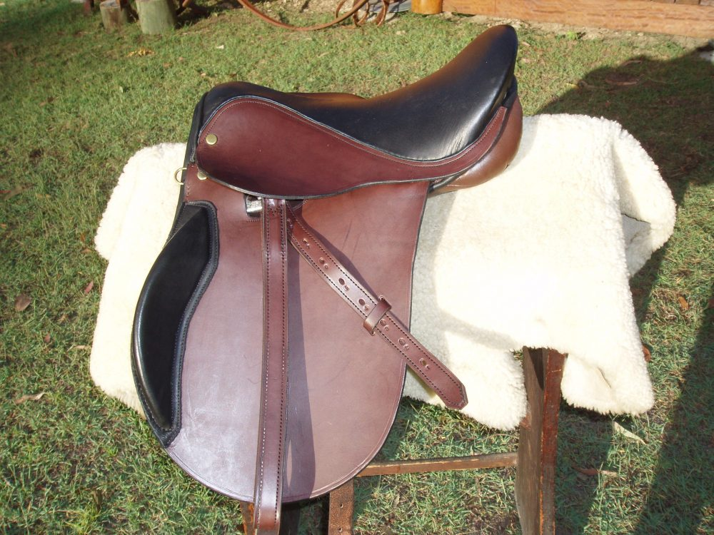 Child's Saddle custom fitted for wide pony