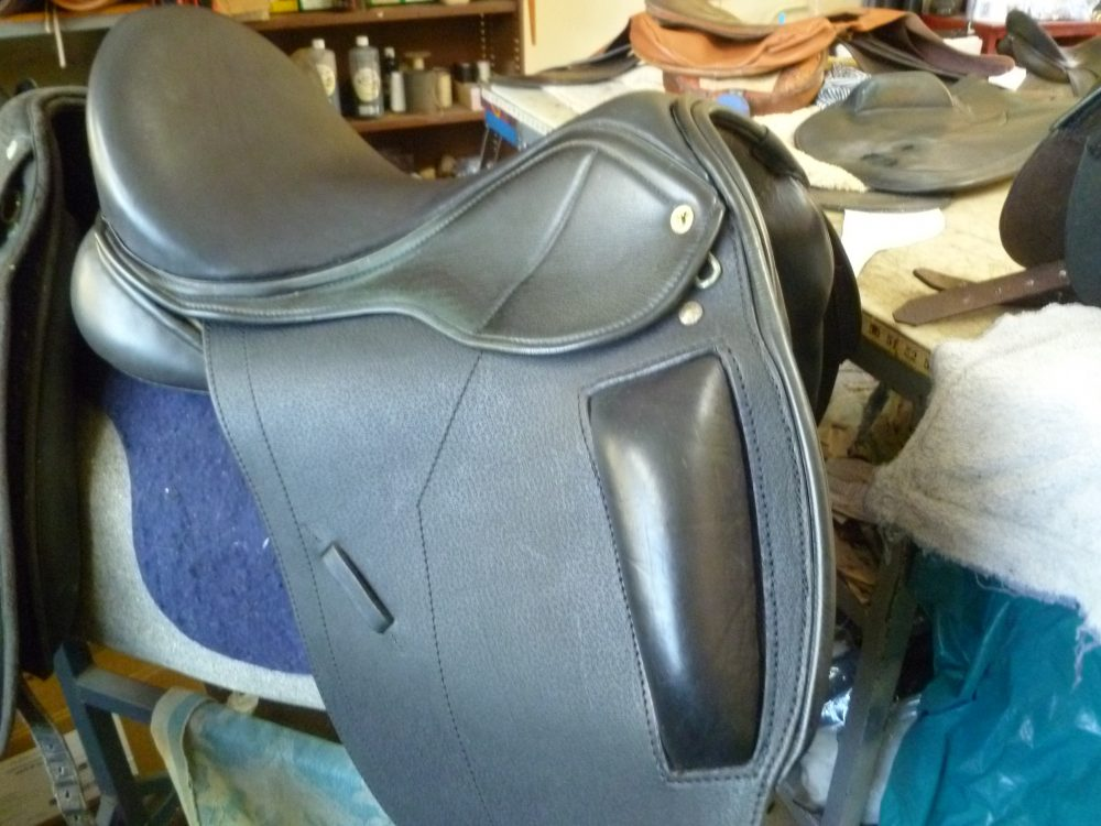 Saddle After Restoration - new seat & knee blocks