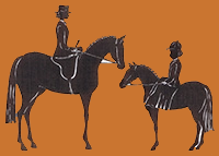 Wendy's Logo, adult-child ride side saddle
